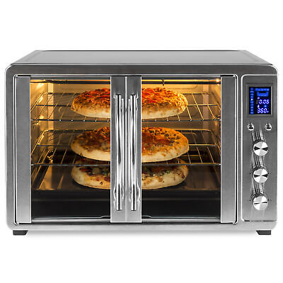 BCP 55L 1800W Especially Large Countertop Convection Toaster Oven w/ French Doors