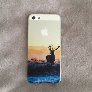 iPhone 5 Phone Case - Clear Transparent Deer Silhouette Sunset