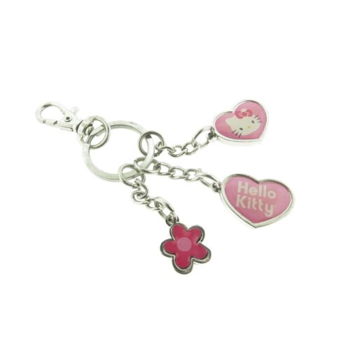 Hello Kitty Enamel Heart Floral Keychain Ring Sanrio