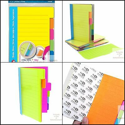 Redi-tag Pad 60 Ruled Notes Divider Sticky Notes Tabbed Self-stick Lined Note