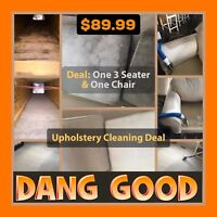 $89.99 Upholstery Cleaning. Dang Good Carpet & Furnace Cleaning