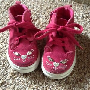 Baby Gap pink suede shoes size 6 (toddler size).