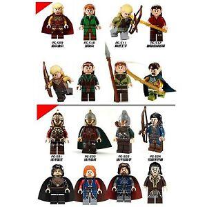 Lord-Of-The-Rings-Hobbit-Mini-Figures-Aragorn-Legolas-Elf-Orc-Keyring-fits-Lego