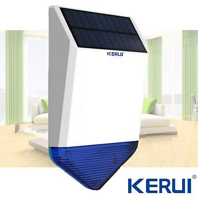 Kerui Wireless Huge Waterproof Outdoor Solar Power Siren For Home Alarm System