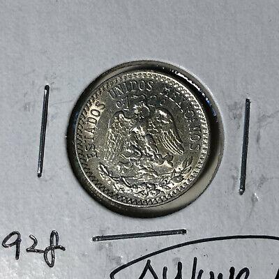 1928 Mexico 20 Centavos Silver Coin AU/UNC Condition 20 Centavos Silver Coin