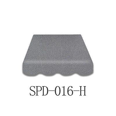 Markisenstoff  Markisenbespannung ohne Volant 4 x 2,5 m grau Neu SPD-016H