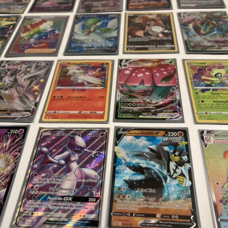 Pokemon 25 Card Lot Guaranteed Gx Ex Mega V Vmax Full Art Amazing Rare Genuine