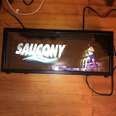 Saucony Logo Sign Lights Up Light Display Store Advertising Red Vintage