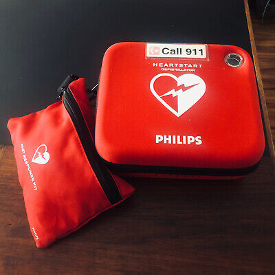 Philips Heartstart Hs1 Aed Defibrillator Pads Battery Case