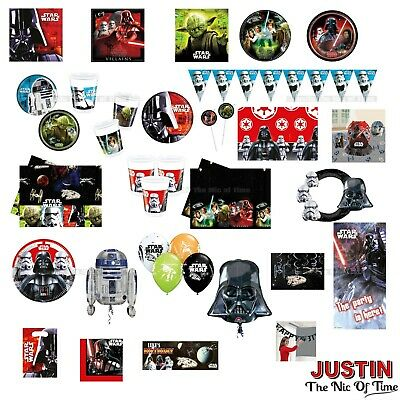 STAR WARS Boys Birthday Party Tableware Boys Kids Children CLEARANCE