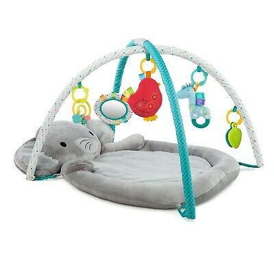 Bright Starts Enchanted Elephants Activity Gym W Ultra-Plush Soft Mat Newborn+
