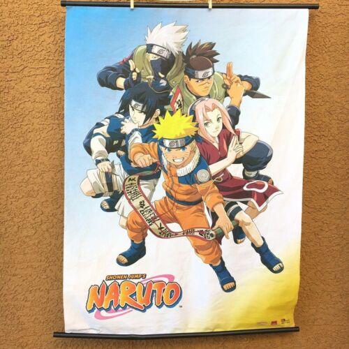 """2002 Shonen Jump NARUTO Wall Scroll Banner Poster 31"""" x 43"""" Anime KISHIMOTO"""