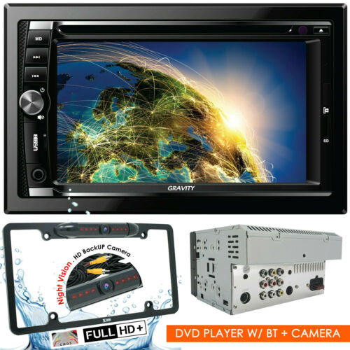 "Gravity CAR AUDIO DOUBLE DIN 6.2"" TOUCHSCREEN LCD DVD CD MP3 BLUETOOTH + CAMERA"