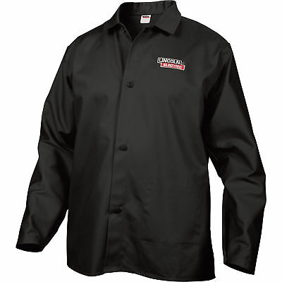 Lincoln Electric Flame-retardant Welding Jacket - L Size 32in. Sleeves Black