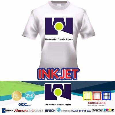 Inkjet Heat Transfer Paper Red Grid Iron On Light T Shirt 100 Sheets Pk 8.5x11