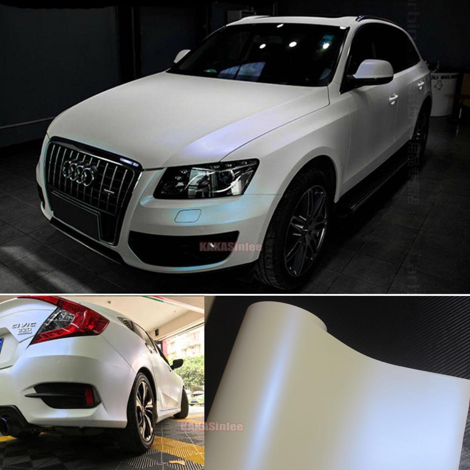 Diy Matte Entire Car Wrap Pearl White To Blue Chameleon