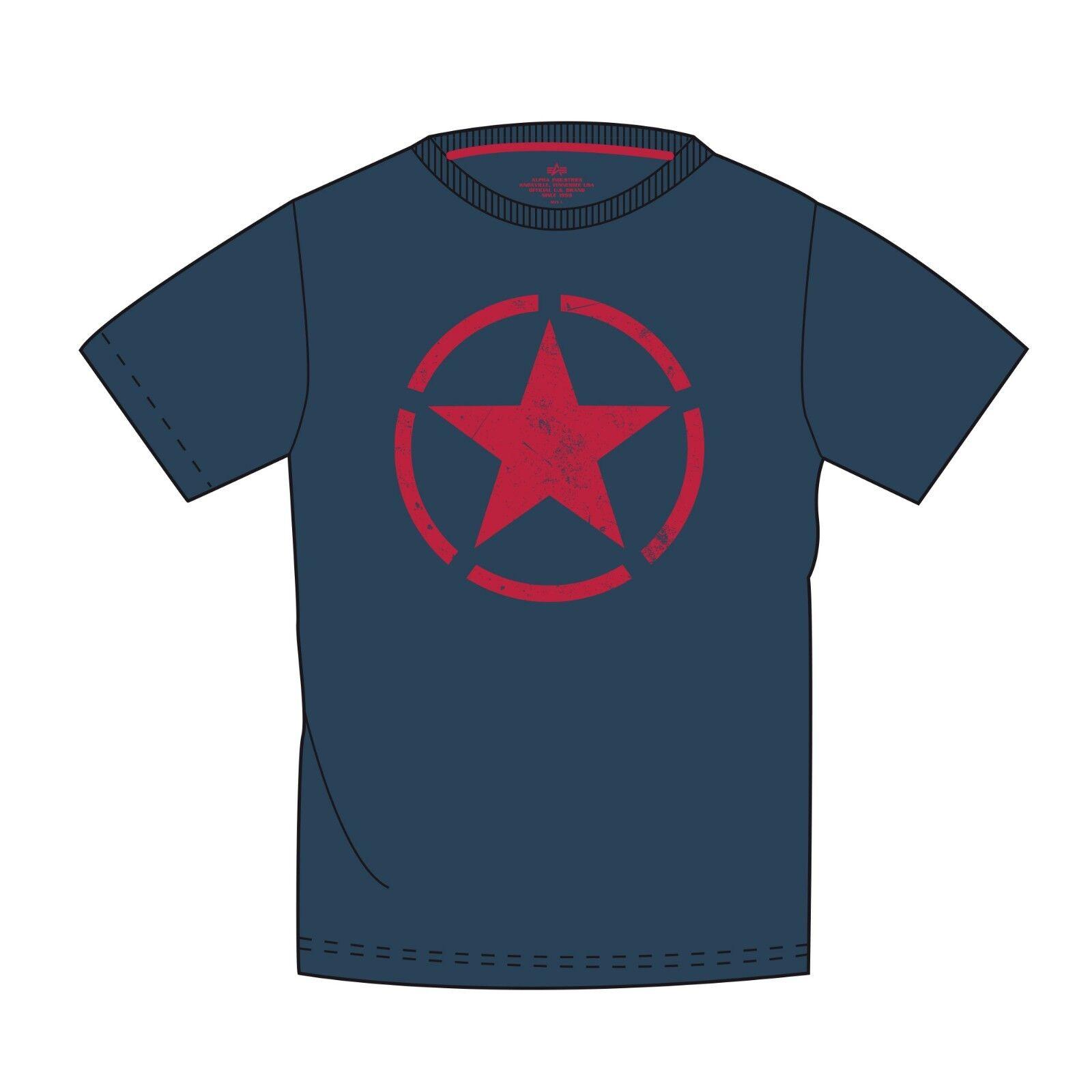 a930d631a649 Alpha Industries Star T 121513 T Shirt Stern Baumwolle Herren Nicki ...