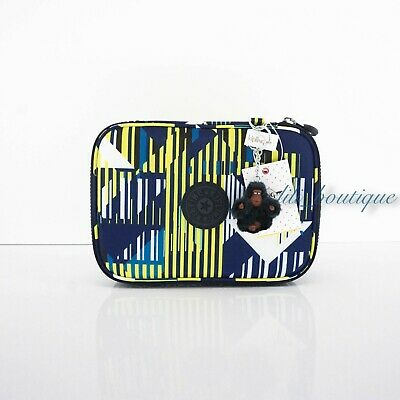 NWT Kipling AC7252 100 Pens Case Pencil Accessory Polyester Lighting Zone Multi