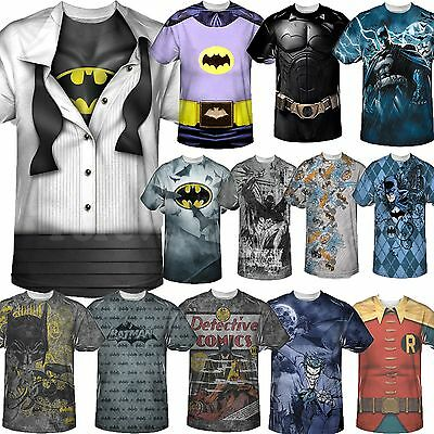 Men's Adult Licensed Marvel DC Comic Book Tee T-shirt Short Sleeve Batman Symbol