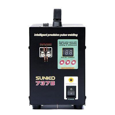 Hand Held Sunkko 737b Battery Spot Welder With Pulse Display 1.5 Kw 0.2 Mm