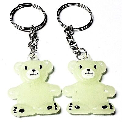 Glow Novelties Wholesale (12pc glow in dark bear key ring Birthday Party Favor Wholesales vending novelty)