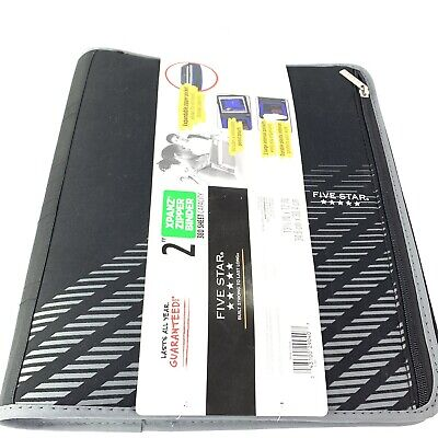 Five Star Zipper Binder 2 Inch 3 Ring Binder Xpanz Color Selected For You