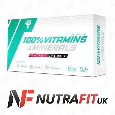 TREC NUTRITION 100% VITAMINS & MINERALS DAY NIGHT FORMULA multi vitamin mineral