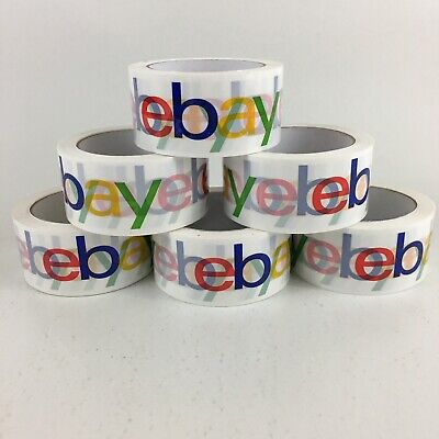 6 Rolls Official Ebay Branded Packaging Tape Shipping Supplies 75 X 2