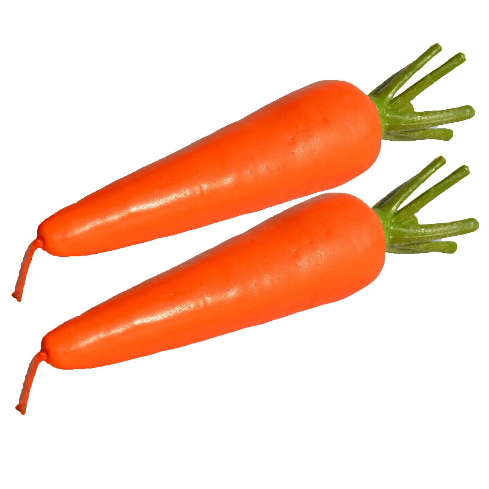 2 x Realistic Easter Bunny JUMBO FAKE CARROT Funny Rabbit Ha