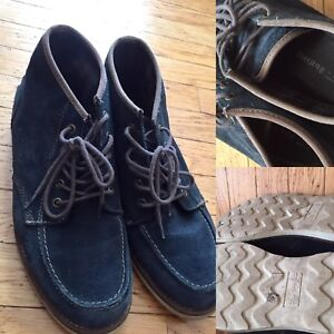 Blue suede call it spring men's shoes