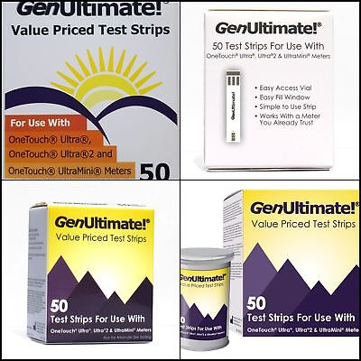 Blood Glucose Test Strips Use with One Touch Ultra Ultra 2 Mini Meter 50 in 1 pc