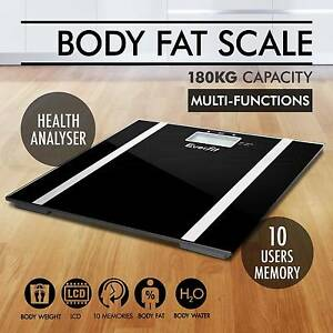 Everfit Digital Body Fat Scale Bathroom Gym Weight Glass Keilor East Moonee Valley Preview