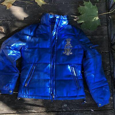Christian Audigier Ed Hardy Mens Designer Leather Jacket  Small Size Ed Hardy Vest