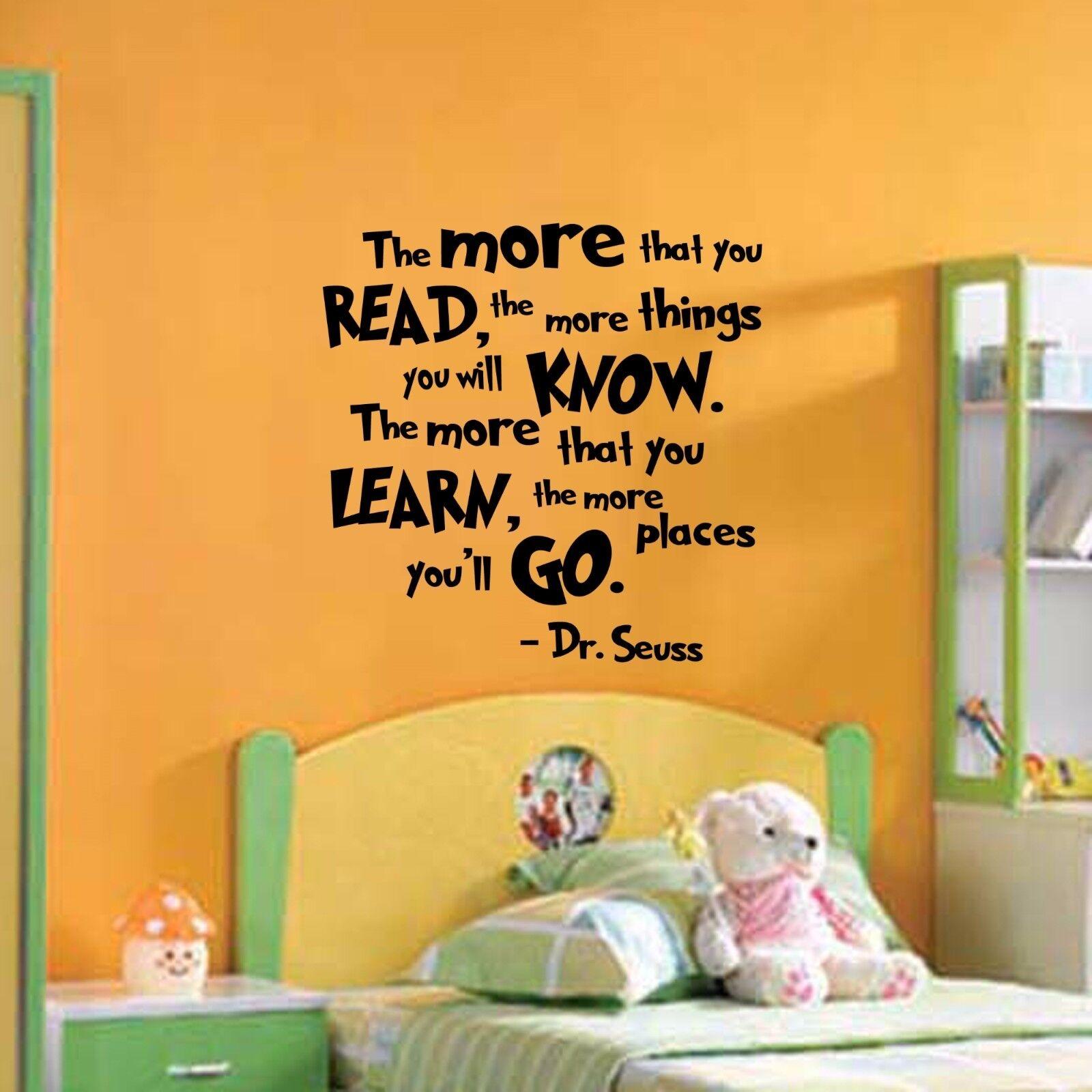 Dr Seuss Quote - Wall Decal Vinyl Sticker Monogram Nursery P