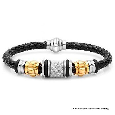Gold Chelsea Braided Genuine Leather -