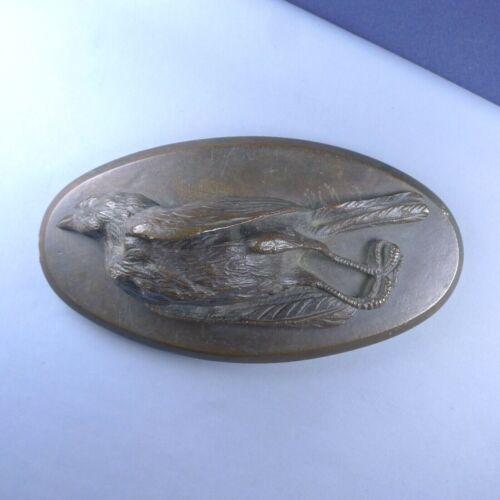 Victorian Dead Bird Bronze Sculpture / Paperweight