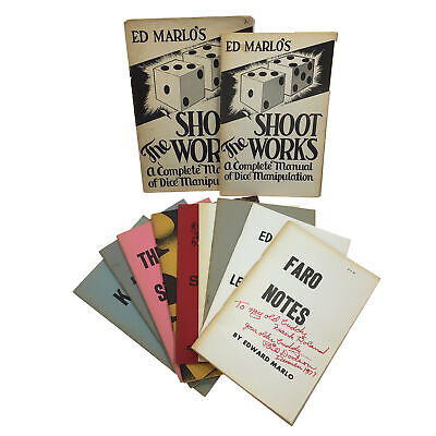 Collection of (11) Ed Marlo Booklets: Shoot the Works, Faro Shuffle, Lecture +