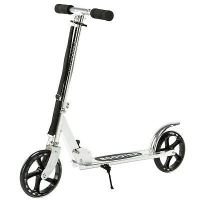 Folding Aluminum Kick Scooter Foldable Adjustable Height 36-41'' for Kids Adult