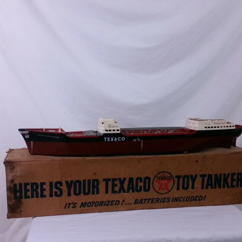 "Vintage Texaco Wen Mac North Dakota Toy Tanker Oil Ship SS 27"" Promo Box Dealer"