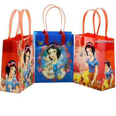 Disney Princess Snow White Licensed Reusable Small Party Favor Goodie 6 Bags  - Disney Princess Goodie Bags