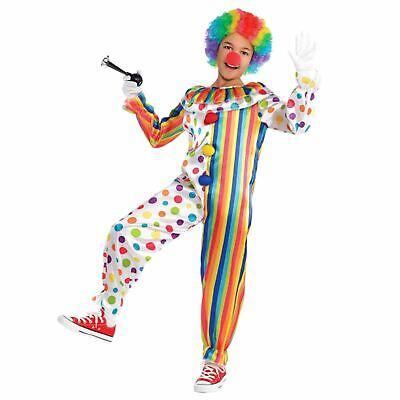 Jungen Mädchen Clown Zirkus Karneval Lustig Kostüm Verkleidung Overall (Kinder Lustig Verkleiden Kostüme)