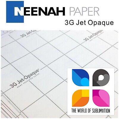 3g Jet Opaque Inkjet Heat Transfer Paper 8.5x11 50 Sheets Iron On Dark