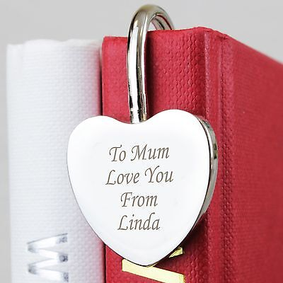 Personalised Silver Heart Bookmark -Free Laser Engraving- Birthday Gift for Her