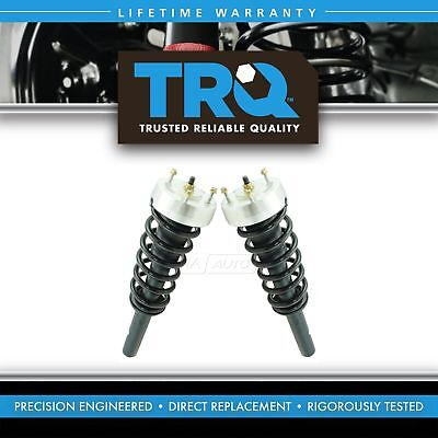 Left Front Spring - TRQ Front Complete Loaded Strut Spring Assembly Kit Pair 2pc for BMW X5 SUV New