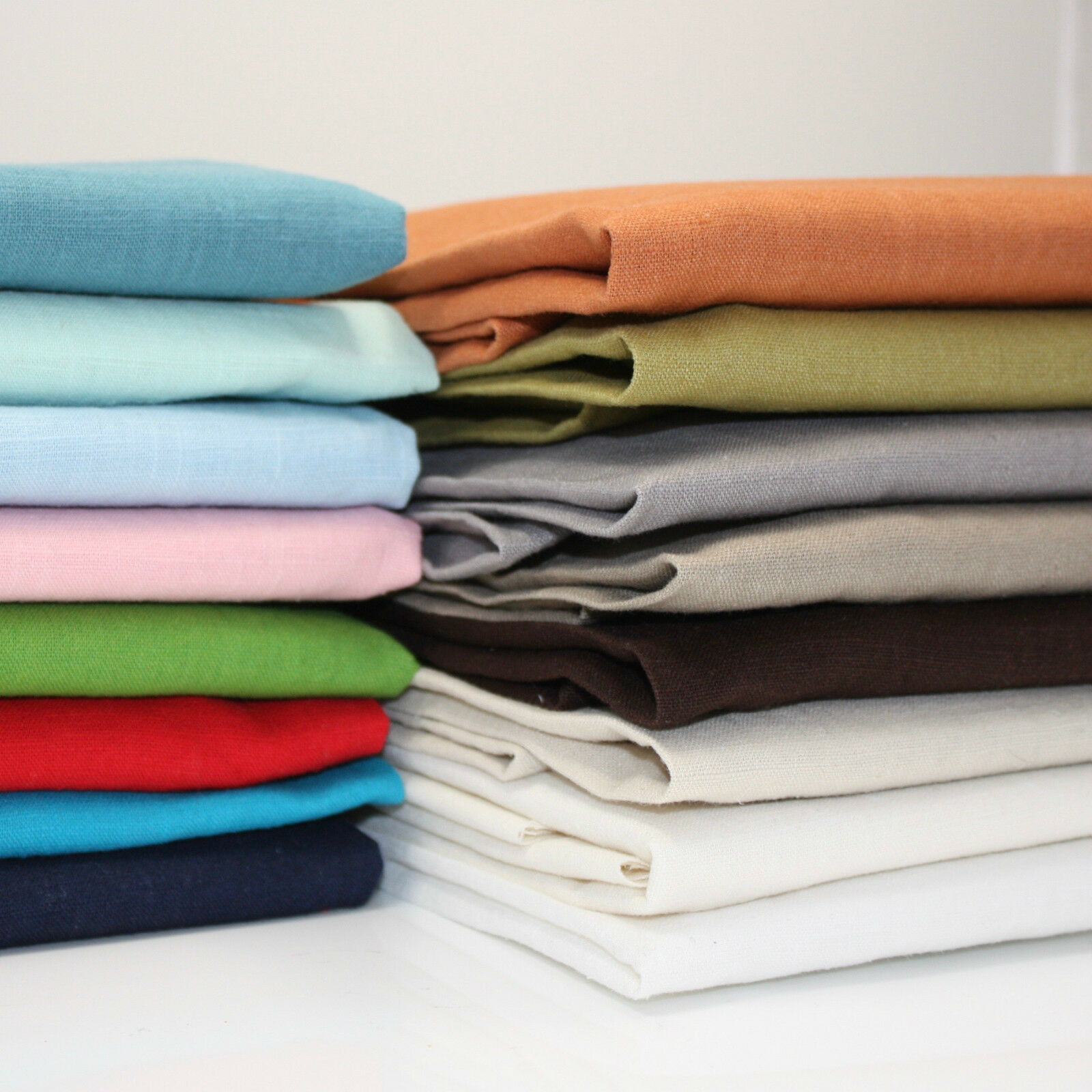 Details about WASHED 100% LINEN FABRIC - ALL COLOURS - 140CM WIDE  DRESSMAKING FREE POSTAGE