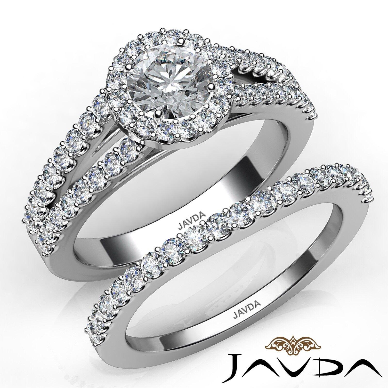 2.31ctw Luxurious Wedding Bridal Round Diamond Engagement Ring GIA E-VVS2 W Gold