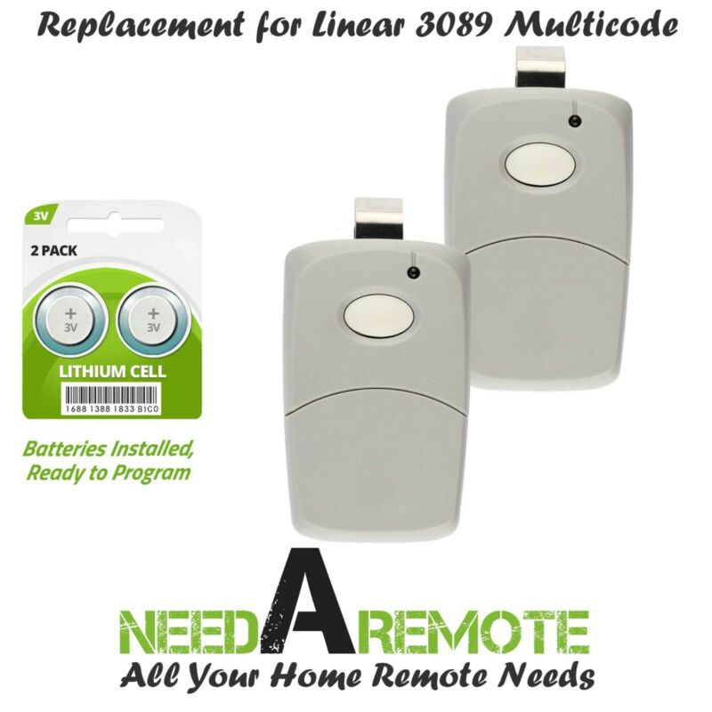 For Multi-Code 3089 2-Pack MultiCode 308911 Linear MCS308911 Garage Gate Remote