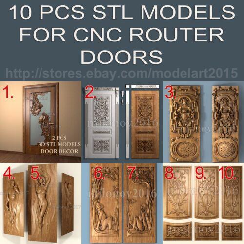 10 pcs collection 3d stl Model Relief Aspire for CNC Router Artcam