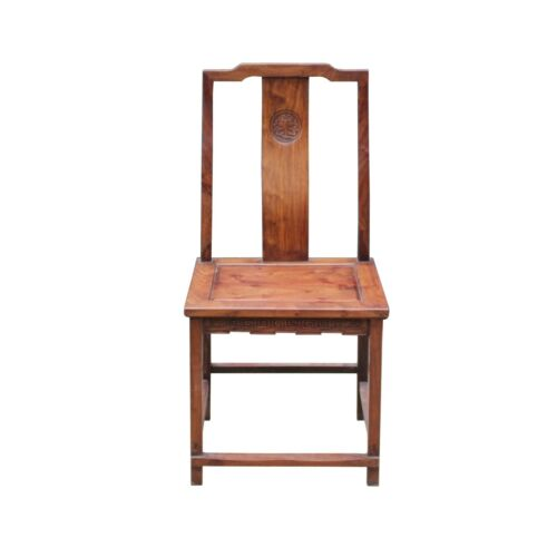 Chinese Yellow Rosewood Simple Straight Back Armchair cs5019