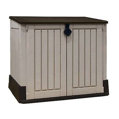 Keter Store It Out Midi Outdoor Plastic Garden Storage Shed - Beige/Brown 517869